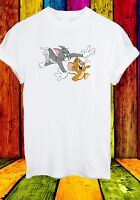 Disney Tom & Jerry Cat Mouse Movie Cartoon Funny Men Women Unisex T-shirt 652