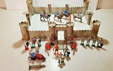 Vintage Metal Castle With Cannons and Lead Knights & Horses. Made in England