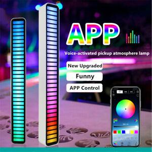 UK Auto RGB Music Sound Control LED Level Light Bar Novelty Rhythm Light Lamp
