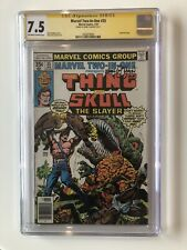 Marvel Two-In-One #35 CGC 7.5 SS Ernie Chan 1978 Fantastic Four SKULL THE SLAYER