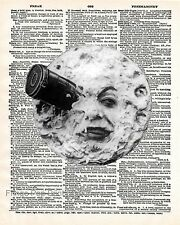 Man in the Moon Art Print 8 x 10 - Dictionary Page - Victorian Storybook - Story