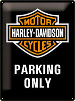 Harley Davidson Parking Only Grande Relieve Signo 400mm X 300mm (Na )