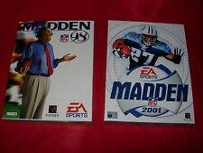 MADDEN NFL 2001 e MADDEN 98 Football Americano EA Sports Scatola grande