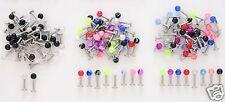 10 16g Labrets Spike & Ball Lip Rings WHOLESALE Body Jewelry Piercing Lot BO