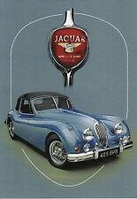 Jaguar XK 140 Classic British Sports Car Dugan motoring art Tall greeting card