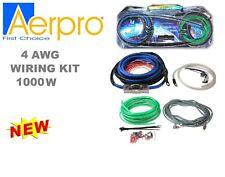 AERPRO MAXCOR MX24 4 AWG 2 CHANNEL 1000W AMPLIFIER WIRING INSTALLATION KIT AMP