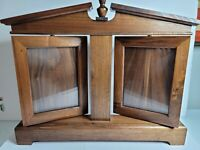 "Vintage Ornate Double Wooden Swing Swivel Tilt Picture Frame for 5""x7"" photos -"
