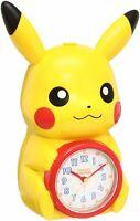 Seiko Clock Alarm Analog Pikachu Pokémon character Talking JF379A Japan F/S