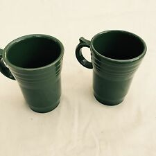 FIESTA 2 NEW LATTE MUGS SAGE green LARGE COFFEE MUGS CUPS 18 oz.  Fiestaware