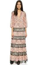 Alice & Olivia Bohemian Paisley Black Lace Daren L/S Maxi Dress $495 NWT 8
