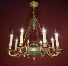 EMPIRE GOLD CHANDELIER GREEN CEILING LAMP LIGHTS HALL GIANT MODERN STYLISH Ø 25""