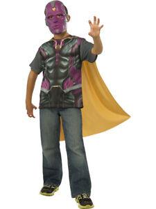 Marvel Avengers Age of Ultron Vision Shirt, Mask & Cape Costume, Boys LG 12-14