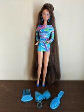 Vintage 1991 TERESA TOTALLY HAIR BARBIE DOLL Brunette with AccessoriesOriginal