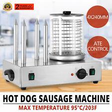 Roll Grill Hot Dog Steamer Sausage Machine Bar Shop Muffin French 2X300W HOT