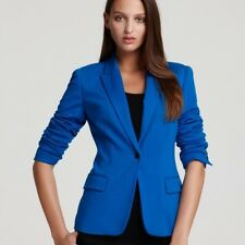 Vince Camuto Women's Blazer Blue Stretch Fitted  One button Sz 4 Casual, Career