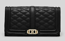 Rebecca Minkoff Quilted Love Clutch Chain Leather Shoulder Bag Purse Wallet