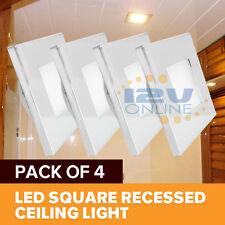 4x12V LED Square Recessed Ceiling Light RV Trailer Boat Cabin Under Cabient Lamp