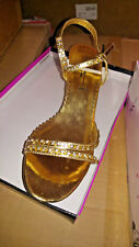 Women's Julie Gold Sandals Heels Shoes Rhinestones (18 pairs Wholesale LOT)