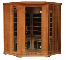 4 Person Cedar Corner Indoor Infrared Sauna Spa Carbon Heater FAR New