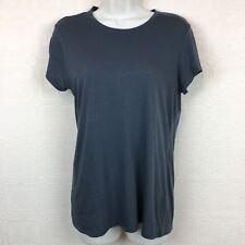 Vince Medium Womens T Shirt Short Sleeves Gray Top Crew Neck #153