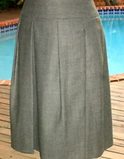 AKRIS Preppy Gray Wool Pleated Skirt $FALL$~$SUPER$~SALE$~$ONLY$~$45  4 S FR36
