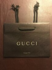 NEW Gucci Brown Small Paper Gift Shopping Bag 9