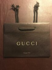 "NEW Gucci Brown Small Paper Gift Shopping Bag 9"" x 2.5"" x 6.5"" Firenze 1921"