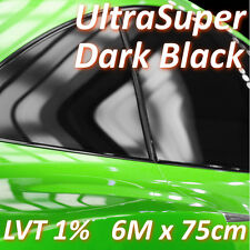 600cm x 75cm Limo Black Car Windows Tinting Film Tint Foil + Fitting Kit - 1%