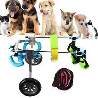Pet Wheelchair Cart Handicapped Doggie Cat Dog Puppy Walk Traction Light  AU AU