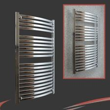 "600mm(w) x 1100mm(h) ""Ellipse"" Chrome Heated Towel Rail Radiator Warmer 2930 BTU"