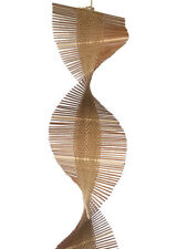 Bamboo Wind Chime Kinetic Spiral Hanging Decoration Set of 2