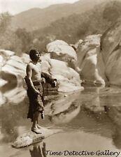 Yokut Man, Tule River Reservation, California - Historic Photo Print