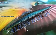 "NEW LONG JERK ""ALICE'S BAIT"" MINNOW 175 SLIM FLOATING - COLOR: LASER SARDINE"