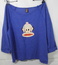 PAUL FRANK Junior Size XL Blue Top 3/4 Sleeve New Cotton / Polyester
