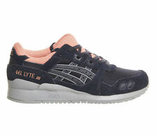 Asics Womens Gel Lyte III Low Top Trainers H6W7N India Ink Blue UK 4.5 EU 37.5