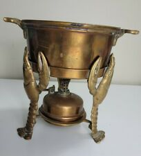 Joseph Heinrichs Lobster Pot Copper with Warmer with 3-D Lobsters ** no lid**
