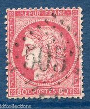 Superbe oblitération cachet gros chiffre 5052 Orléanville Algérie sur Cérès N°57