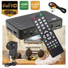 Mini Full 1080P HD Multi Media Player TV BOX 3 Output HDMI/VGA/AV USB&SD Card US
