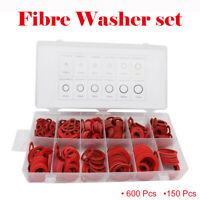 600/150 Assorted Fibre Washer set. Fibre Seals various sizes Sealing Washers