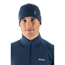 EDZ Merino Wool Thermal Beanie Hat Denim Blue