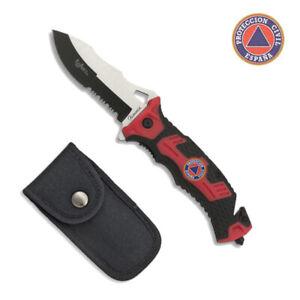 Navaja Tactica PROTECCION CIVIL Hoja 9,1 cm. Supervivencia Knive 19893-A