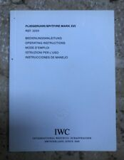 IWC Fliegeruhr/Spitfire MARK XVI Ref 3255 Operating Instructions Booklet - NOS