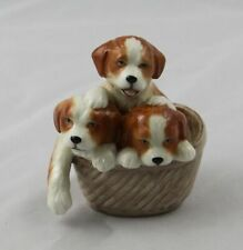 Royal Copenhagen 745 Miniature Dogs in Basket Figurine Mini Collection Denmark