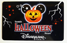 CARTE DE COLLECTION DISNEYLAND PARIS / SOIREE HALLOWEEN