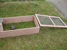 Tortoise guinea pig outdoor wooden house hide & run collection only assembled