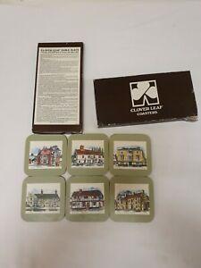 Vintage Cloverleaf Coasters x 6 *Boxed*