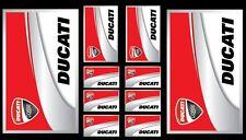 Set n.8 + 2 in omaggio adesivi DUCATI Corse Scuderia Moto Casco