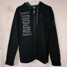 NWT TAPOUT Men's Black Full Zip Up Sweater- Size Medium