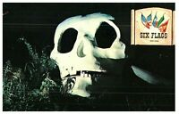 Grinning Skull Mysterious Skull Rock Six Flags Over Texas Postcard