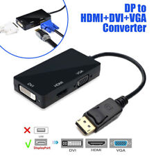 3 in 1 DisplayPort DP To HDMI DVI VGA Adapter Cable 1080P Display Port Converter